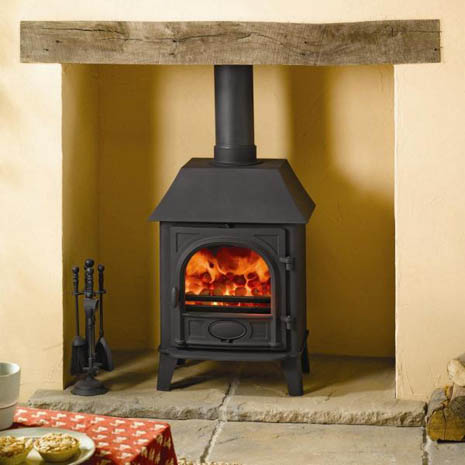 Stovax Stockton 5 Low Canopy Black