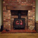 A log burning stove